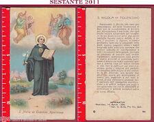 3172 SANTINO HOLY CARD S. SAN NICOLA DA TOLENTINO AGOSTINIANO T 326 MEDIOLANI