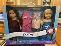 "NIB 2 Journey Girls Limited Edition Celebration Collection 18"" Doll Set RARE !!"