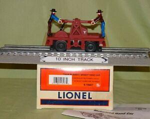 Lionel 18467 Animated Train Robbery Motorized Bandit Hand Car O/027 gauge 2002