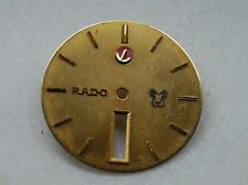 Rado watch Dial, Vintage, Yellow Gold Color, Day-Date in 6 Hour, Eta movement
