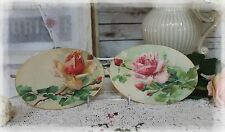 """A set of 2 """"Roses..."""" ~ Country Shabby Chic Cottage style ~ Wall Decor Sign"""