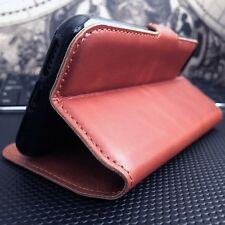 ION   Designer Low Profile  Leather Wallet Book Case Tan Sony Xperia 1