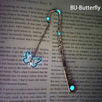 Glow In The Dark Butterfly Bookmark Tibetan Silver Book Marker Stationery DIYSP
