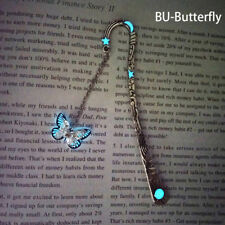 Glow In The Dark Butterfly Bookmark Tibetan Silver Book Marker Stationery DIY