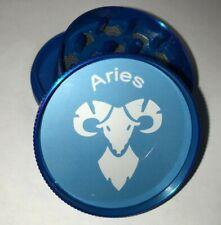ARIES Zodiac Astrology Tobacco Metal Grinder Hand Muller Herbal Smoke Crusher