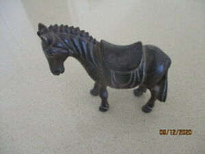 Aged Brass  Pony  Figure with Pack Saddle
