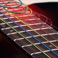 6x Acoustic Nylon Classical Guitar Strings Slinky Nickel Wound Rainbow Colorful