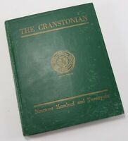 Vintage 1926 The Cranstonian Cranston Rhode Island RI High School Yearbook