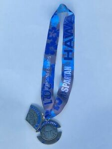 Spartan Race Trail Run Oahu Hawaii Medal Trifecta Super Finisher With Wedge 2021