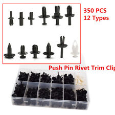 350PCS 12 Types Car Push Retainer Pin Rivet Trim Clip Panel Moulding Assortments