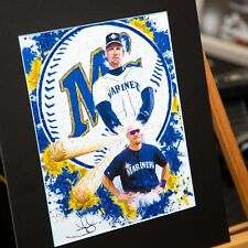 Jay Buhner #19 - Seattle Mariners - Unique Artwork - 3d Effect - Handmade