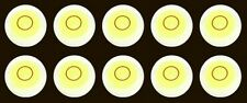 "TEN 1 "" One Inch Diameter Disc Bubble Spirit Level Round Circular Circle Yellow"