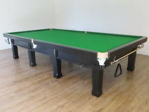 Full Size Black Snooker Table with Free Professional Delivery and Installation