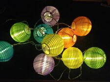 Solar Lichterkette LED Lampions Mit 10 LED außen und innen Bunt