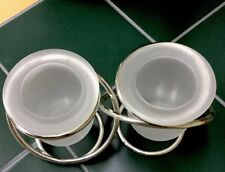 partylite glass votive candle holders
