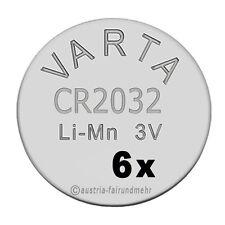 """""""6x CR2032 Lithium Batterien Knopfzellen 3 Volt VARTA"""