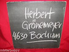 HERBERT GRONEMEYER 4630 Bochum LP 1984 GERMANY First Pressing + Inner MINT-