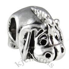 Wholesale Lot 10pcs Donkey Silver European Bracelet Spacer Charm Bead W#658