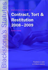Blackstone's Statutes on Contract, Tort and Restitution 2008-2009 (Blackstone's