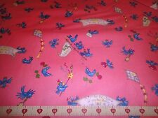 A Little Blue Bird Told Cotton Fabric Me When Pigs Fly Cotton Fabric Avlyn BTY