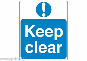 KEEP CLEAR SIGN 25 x 30cm safety signage corflute business work safety health