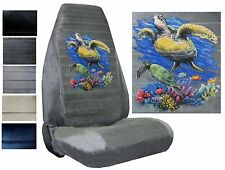 Velour Seat Covers Car Truck SUV Sea Turtles High Back pp #Z