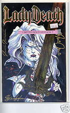 Lady Death Commemorative edition limited triple signed