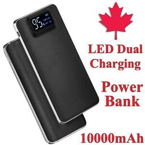 Digital Display Power Bank 10000mAh Charger Battery Dual USB for iPhone Samsung