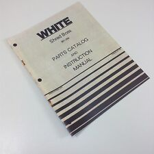 WHITE SHRED BOSS WOOD CHIPPER BRANCH SHREDDER PARTS CATALOG INSTRUCTION MANUAL