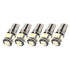 10PCS exempt d'erreur Canbus W5W T10 5050 5-SMD LED Lumiere blanche ampoule R5R2