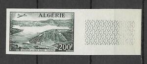 Algérie Aviation Avion Barrage Essai Non Dentelé Plane Imperforate Proof ** 1957