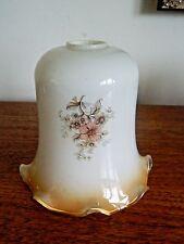 Stunning Vintage Opaque Glass Lamp Light Shade Flower Decoration