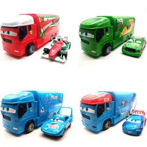Disney Pixar Cars Racer McQueen King Semi Truck Launching Trailer Launcher Toy