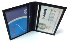 Handcrafted REAL LEATHER Travel Card Holder Wallet Bus Pass Ticket soft Slim new