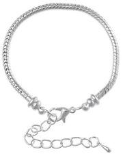 1x Armband Metall Karabinerverschluss Verlängerungskette, Länge 15cm, Silberfarb