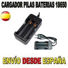 CARGADOR PILAS BATERIAS 18650 RECARGABLES LITIO LI-ION DE ENCHUFE EUROPEO ESP