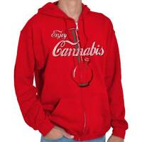 420 Coca Shirt Coke Weed Bong Blunt Cola Joint Pot Cool Gift Zip Hoodie