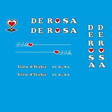 De Rosa Giro d'Italia Bicycle Decals, Transfers, Stickers - White n.500