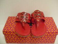 Women's tory burch slippers carnival amanda flat thong tumbled leather size 5.5
