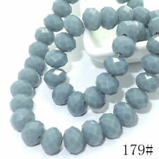 Wholesale 40pcs Crystal Glass Rondelle Faceted Loose Spacer Beads DIY 8mm