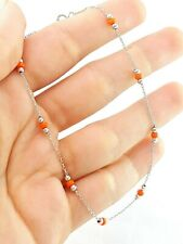 Women Charm Anklet White Gold Plated Beach Foot 925 Silver Jewelry Gift D987