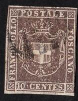 "ITALIE- TOSCANE N°19 - - USED "" - YEAR 1860    CV: 55 €"