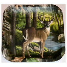 """Next Camo 9"""" Square Dinner Plate Deer Pack of 8"""