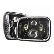 "2PC 7x6"" LED Headlight Black For 86-95 Jeep Wrangler YJ 84-01 Cherokee XJ"