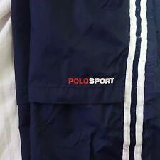 Vintage POLO SPORT Ralph Lauren Blue Nylon Jogger Sweat Pants Size Medium