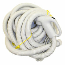 Central Vac Hose Assy 35FT Dual Switching Swivel End Crushproof Electric Hose