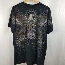 Xtreme Couture Mens Shirt Size L Black Tee Eagle