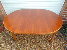 RETRO OVAL TEAK EXTENDABLE DINING TABLE *FREE DELIVERY BOARDROOM DANISH STYLE