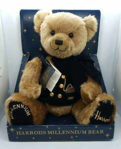 "Vintage HARRODS UK Knightsbridge Millennium 2000 Y2K Bear 18"" Teddy Bear NOS"