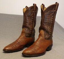 "Vintage Tony Lama Western Cowboy Exotic Skin Casual Dress boots men's 8.5D ""Usa"""